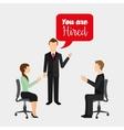 employment exchange vector image