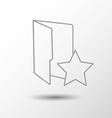 Favorite folder vector image