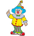 funny smiling clown vector image vector image
