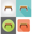 furniture flat icons 12 vector image vector image