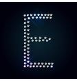 Gems E letter Shiny diamond font vector image vector image