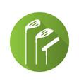 golf clubs flat design long shadow glyph icon vector image