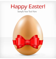 happy easter red ribbon vector image vector image