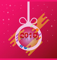 happy new year 2018 ball design vector image vector image