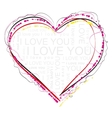 Heart symbol of love vector image vector image