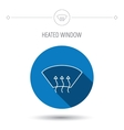 Heated window icon Windshield arrows sign vector image vector image