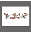 Hello autumn greeting card with berries