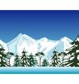 High snow mountains vector image