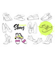 isolated objects sandal shoes vector image