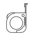 measure tape icon monochrome silhouette vector image vector image