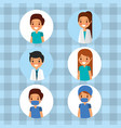 medical people cartoon vector image