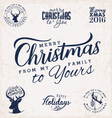 Merry Christmas from my Family to Yours Designs vector image vector image