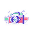 modern classic camera icon for high quality vector image