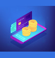 money transfer isometric 3d concept vector image vector image