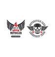 motoclub premium ride retro logo templates set vector image