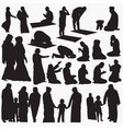 muslim silhouettes vector image