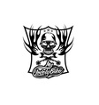 my lovely bike auto crest with skull in helmet