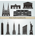 new york landmarks and monuments vector image vector image