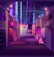 night bar in modern metropolis cartoon vector image vector image