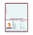 passport identification document vector image