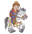 Prince on the horse vector image vector image