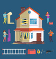 repair and renovation house concept people vector image vector image