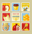 rosh hashanah stamp shana tova vector image vector image