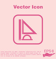 Ruler protractor triangle Symbol of geometry and vector image vector image