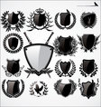 shields and laurel wreath set vector image vector image