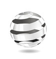 steel strip ball vector image vector image