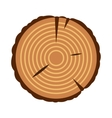 Stump icon flat style vector image vector image