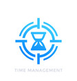 time management icon on white vector image