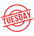 tuesday rubber stamp vector image vector image