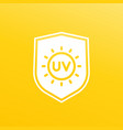 uv protection icon vector image vector image