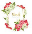 wedding invitation with wild rose flowers vector image
