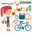 women healthy life fit and firm vector image