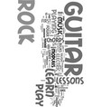 you can learn to play rock guitar text word cloud vector image vector image