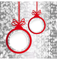Christmas ball in the form of an empty frame for vector image