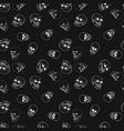 skulls dark pattern or texture vector image