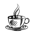 cup of coffee cartoon vector image