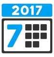 2017 Week Calendar Flat Icon vector image vector image