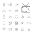 22 vintage icons vector image vector image