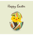 easter card with a hatching chick