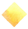 abstract autumn yellow square watercolor banner vector image vector image