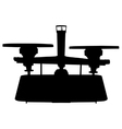 Balance scale silhouette vector image vector image