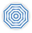 beach umbrella view from top stock vector image