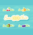 berry and fruit smoothie shake drink sticker set vector image vector image