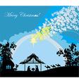 Biblical scene - birth of Jesus in Bethlehem vector image vector image