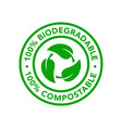 biodegradable and compostable icon product vector image vector image