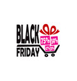 black friday discount gifts cart logo vector image
